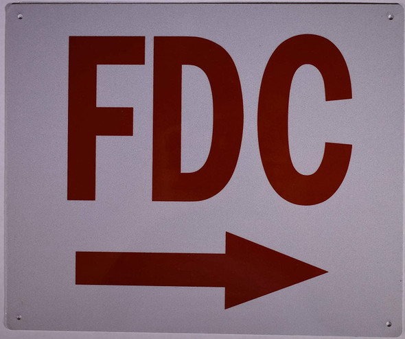 FDC Arrow Right Sign (Aluminium Reflective,