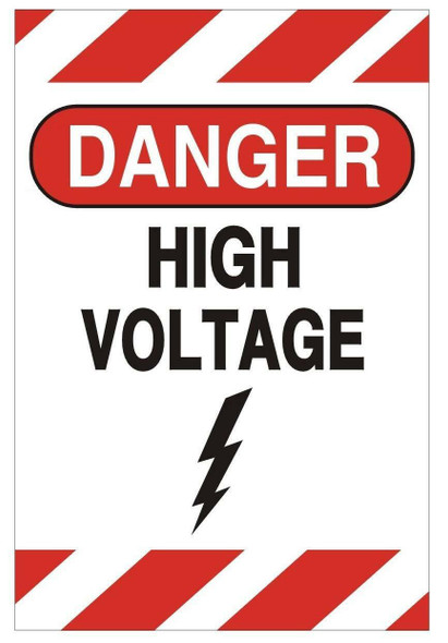 SIGNS Danger HIGH Voltage Sign (Aluminium,Double Sided