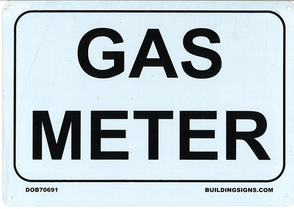 SIGNS GAS METER SIGN (7x10 , Rust