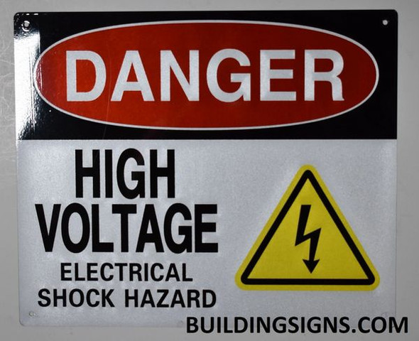 Danger HIGH Voltage -Electrical Shock Hazard