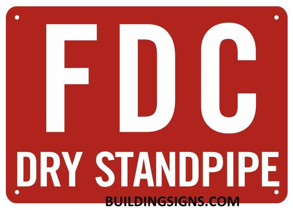FDC Dry Standpipe Sign (Reflective,Aluminium, RED