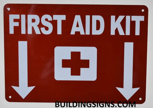First AID KIT Sign (Reflective,Aluminium, RED