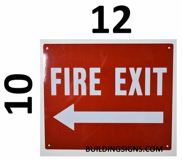 SIGNS FIRE EXIT Arrow Left Sign (Reflective