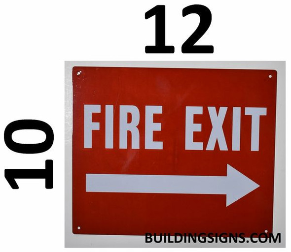 SIGNS FIRE EXIT Arrow Right Sign (Reflective