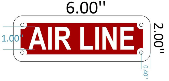 SIGNS AIR LINE SIGN (Red reflective, ALUMINIUM