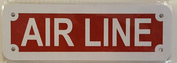 AIR LINE SIGN (Red reflective, ALUMINIUM