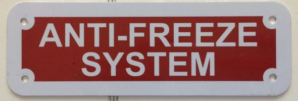 ANTI FREEZE SYSTEM( Red reflective ALUMINIUM