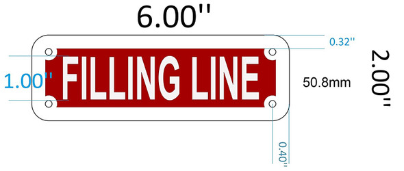 SIGNS FILLING LINE SIGN (RED REFLECTIVE ,