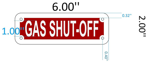 SIGNS GAS SHUT OFF SIGN (RED REFLECTIVE