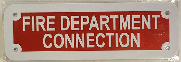 FIRE DEPARTMENT CONNECTION SIGN (RED REFLECTIVE