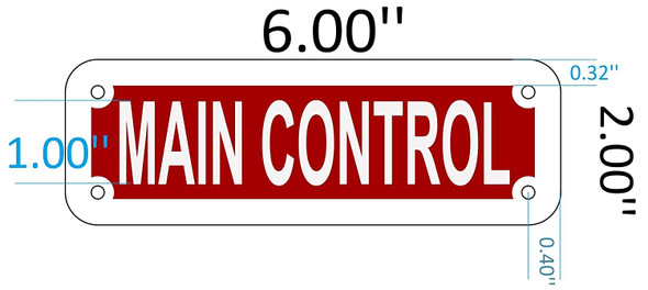SIGNS MAIN CONTROL SIGN (RED REFLECTIVE ,