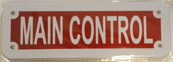 MAIN CONTROL SIGN (RED REFLECTIVE ,