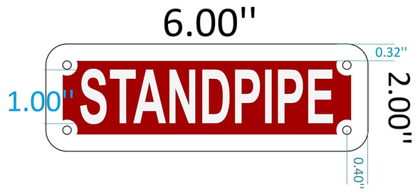 SIGNS STANDPIPE SIGN (RED REFLECTIVE , ALUMINIUM