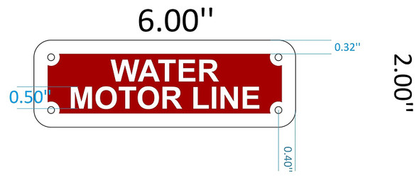 SIGNS WATER MOTOR LINE SIGN (RED REFLECTIVE