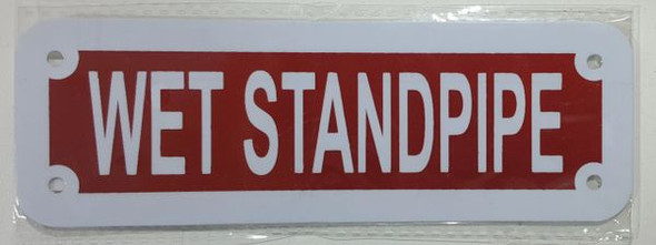 WET STANDPIPE SIGN (RED REFLECTIVE ,