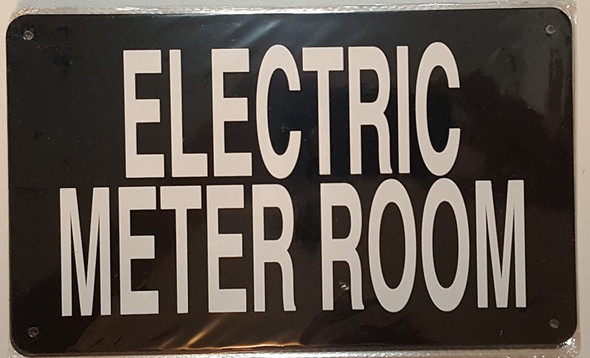 SIGNS ELECTRIC METER ROOM SIGN (BLACK 6x10