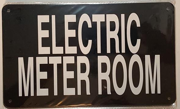 ELECTRIC METER ROOM SIGN (BLACK 6x10