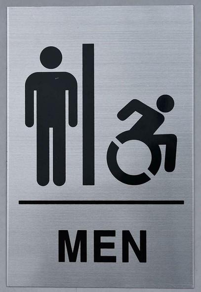 Men Restroom - Sign. Tactile Signs