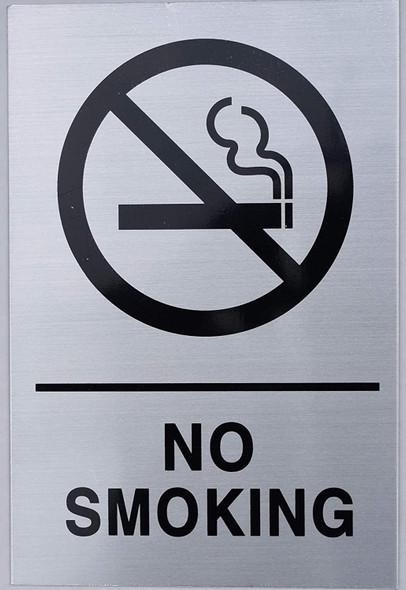 SIGNS NYC NO Smoking Sign - Silver