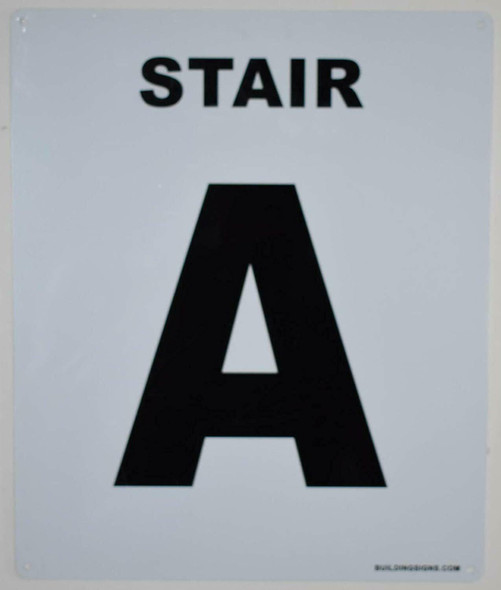 SIGNS Stair A Sign (White, Rust Free