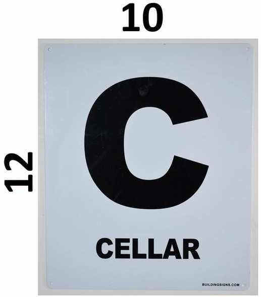 SIGNS Cellar Floor Sign (White, Rust Free