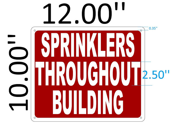 SIGNS SPRINKLERS THROUGHOUT BUILDING SIGN (Aluminium Reflective