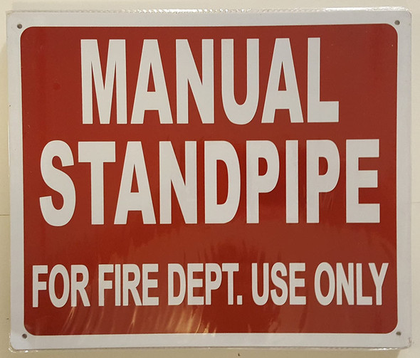MANUAL STANDPIPE FOR FIRE DEPARTMENT USE