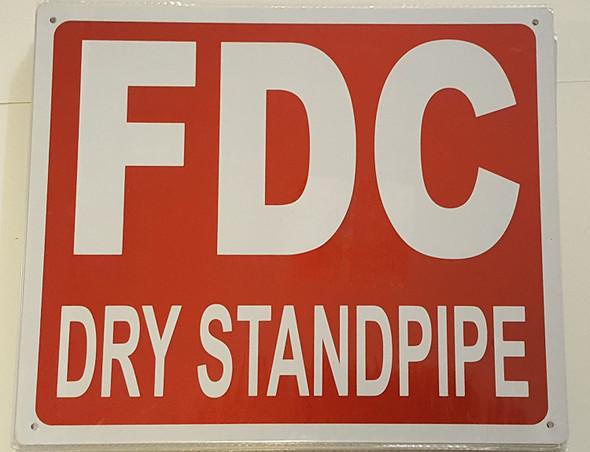 FDC DRY STANDPIPE SIGN - (Aluminium