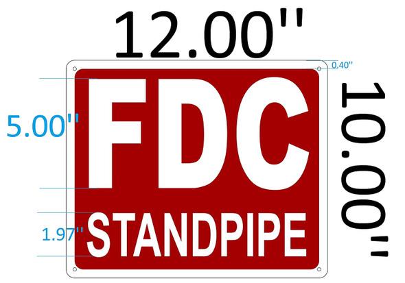 SIGNS FDC STANDPIPE SIGN - (Aluminium Reflective