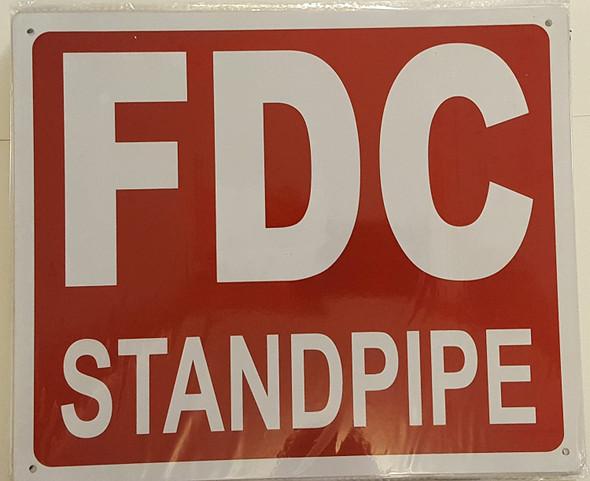 FDC STANDPIPE SIGN - (Aluminium Reflective