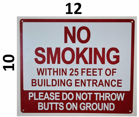 SIGNS NO Smoking Within 25 FEET of