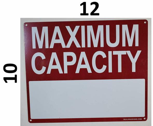 TANK CAPACITY SIGNS