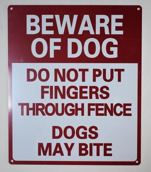 Beware of Dog Do Not Put