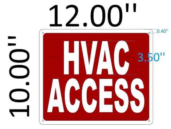 SIGNS HVAC ACCESS SIGN (Aluminium Reflective ,