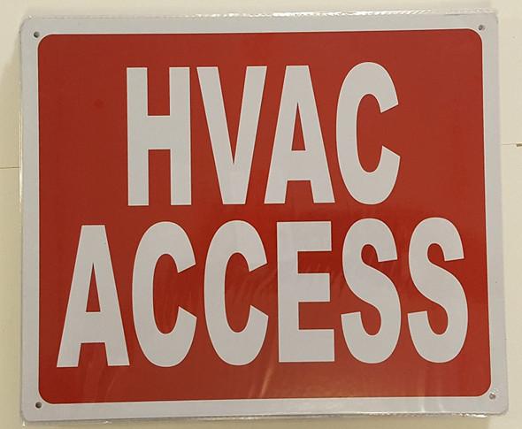 HVAC ACCESS SIGN (Aluminium Reflective ,