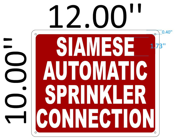 SIGNS AUTOMATIC SPRINKLER CONNECTION SIGN ( REFLECTIVE