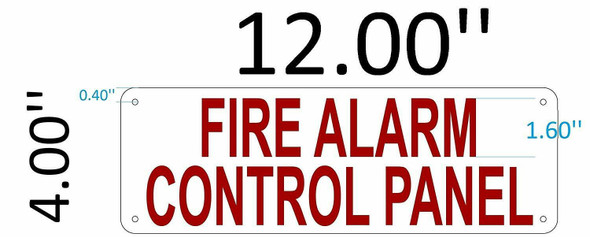 SIGNS FIRE Alarm Control Panel Sign (White,Reflective,