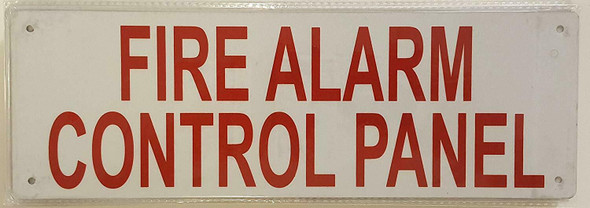 FIRE Alarm Control Panel Sign (White,Reflective,