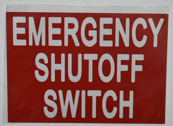 SIGNS EMERGENCY SHUTOFF SWITCH SIGN (STICKER 7X10)