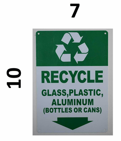 SIGNS Recycle Glass,Plastic,Aluminium (Bottles OR CANS) Sign