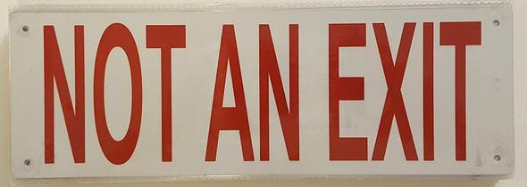 NOT AN EXIT SIGN (Reflective, Aluminium