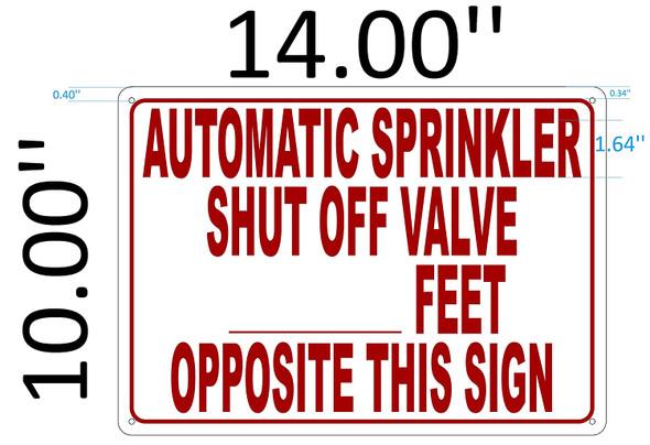 SIGNS AUTOMATIC SPRINKLER SHUT OFF VALVE SIGN