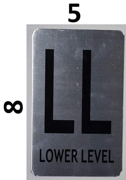SIGNS Lower Level Sign (Brush Aluminium, 5X8)-The