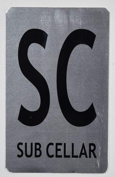 SIGNS SUB Cellar Sign (Brush Aluminium, 5X8)-The
