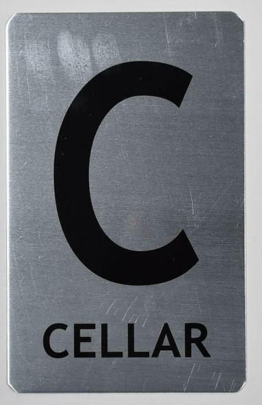 SIGNS Cellar Sign (Brush Aluminium, 5X8)-The Mont
