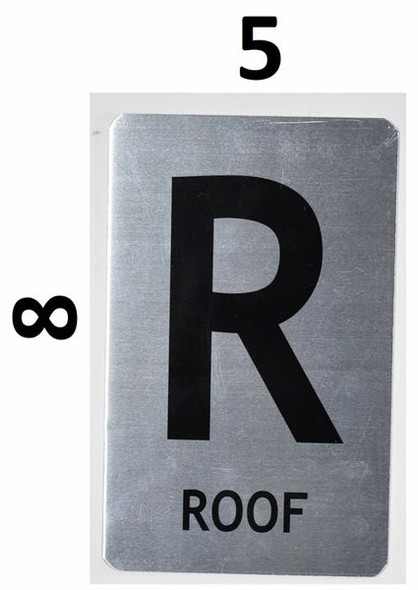 SIGNS ROOF Sign (Brush Aluminium, 5X8)-The Mont