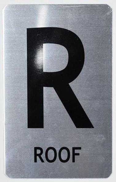 ROOF Sign (Brush Aluminium, 5X8)-The Mont