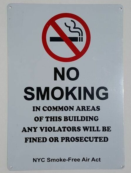SIGNS No Smoking - In Common Areas