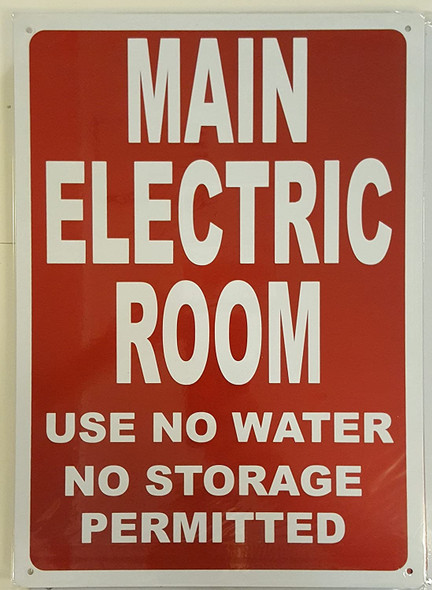 Main Electric Room Sign (Reflective, 10x14,