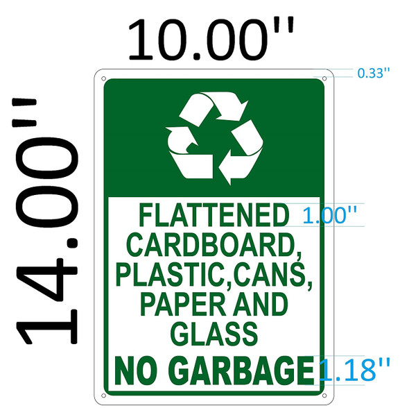 SIGNS FLATTENED CARDBOARD, PLASTIC, CANS, PAPER AND